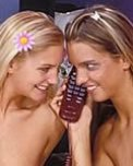arousing real-life lesbian telephone filth